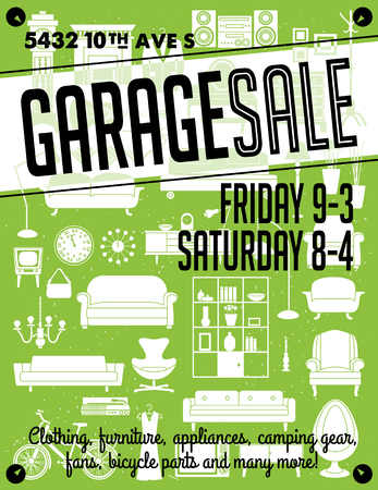 Garage Sale Poster Stock Illustratie