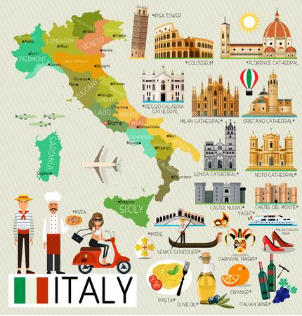 이탈리아 여행지도입니다.
