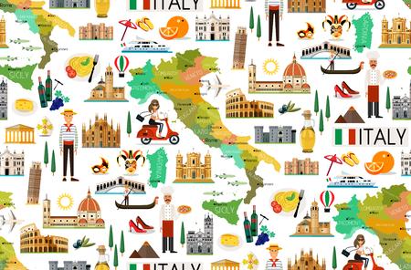이탈리아 여행 패턴입니다. 스톡 콘텐츠 - 81268566