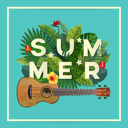 夏のタイポグラフィ。 写真素材 - 81566257