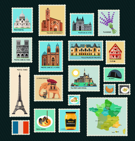 France Travel Stamps.