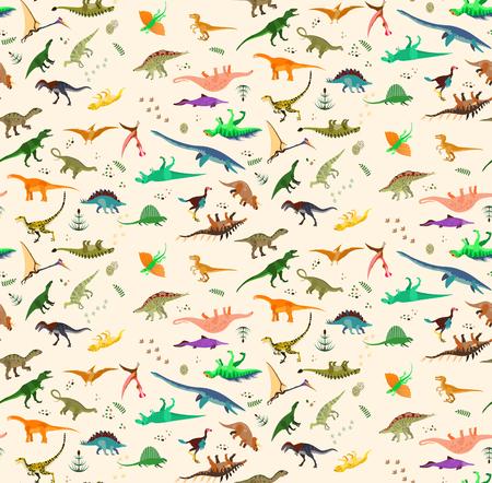 공룡 세트 일러스트