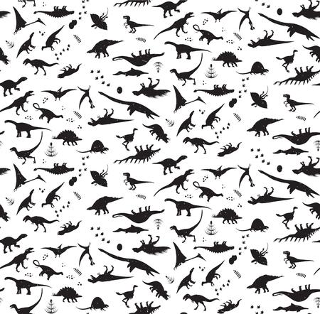恐竜パターン。  イラスト・ベクター素材