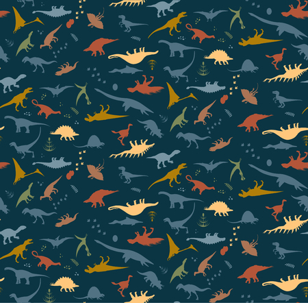 Dinosaur blue pattern background