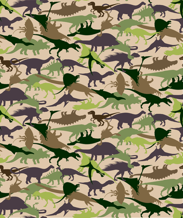 Dinosaurussen naadloze patroon. Stock Illustratie