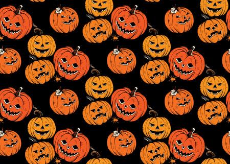 Pattern senza saldatura con zucche di Halloween. Vettore. Archivio Fotografico - 86999750