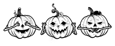 Three Wise Halloween Pumpkins.