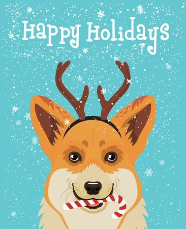 Weihnachtskarte. Vektor-Illustration. Standard-Bild - 89194106