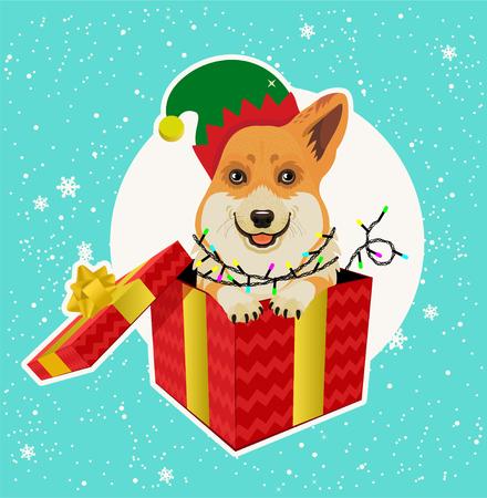 Weihnachtskarte. Vektor-Illustration. Standard-Bild - 89194102