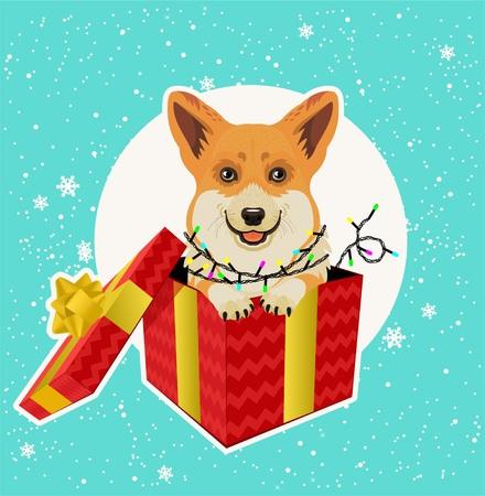 Weihnachtskarte. Vektor-Illustration. Standard-Bild - 89194105