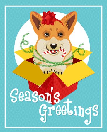 Weihnachtskarte. Vektor-Illustration. Standard-Bild - 89320970