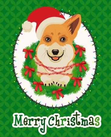 Weihnachtskarte. Vektor-Illustration. Standard-Bild - 89194111
