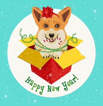 Christmas Card. Vector Illustration.