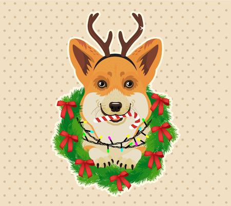 Weihnachtskarte. Vektor-Illustration. Standard-Bild - 89194115