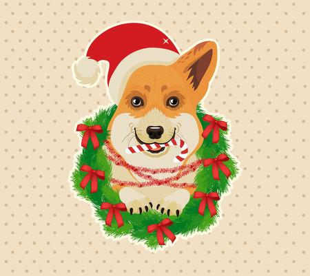 Weihnachtskarte. Vektor-Illustration. Standard-Bild - 89194259