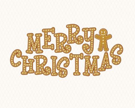 Gingerbread Font. Vector illustration.