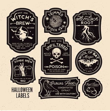 Halloween Bottle Labels Potion Labels. Vector Illustration. Stock fotó - 94379954