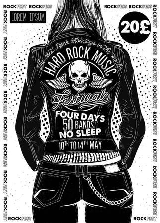 Poster van het Hard Rock Festival.