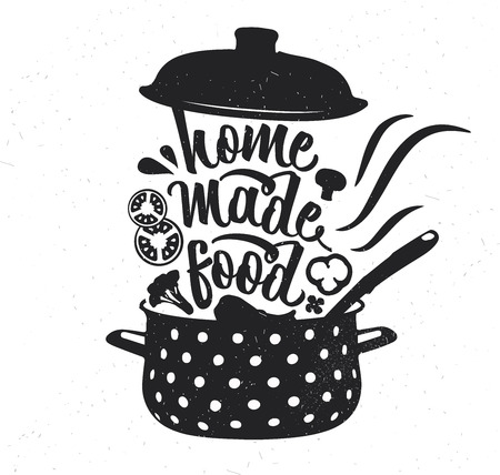 Hand drawn typography poster. Inspirational vector typography. Homemade Food.