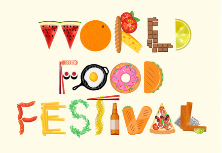 Typography Poster. World Food Festival