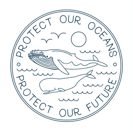 Protect Our Ocean. Protect Our Future. Vector Ilustrace