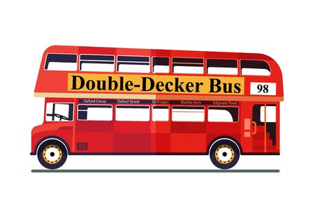 Double-Decker Bus Isolated On White Background. Illustration