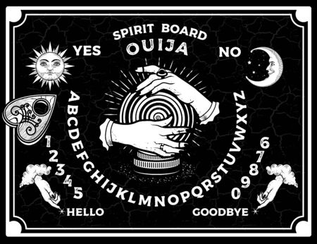 Ouija Boards. Occultism Set. Voices from the Other World.