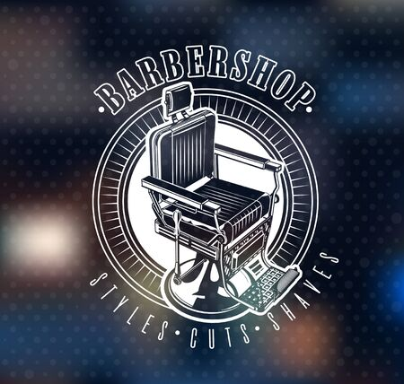 Barbershop Wall and Window Glass Sticker. Posters and Coverings to decorate a barbershop. Vitrine Design for Hair Salon. Hairdressing Salon Interior. Barber Decor Vector Illustration. Illusztráció
