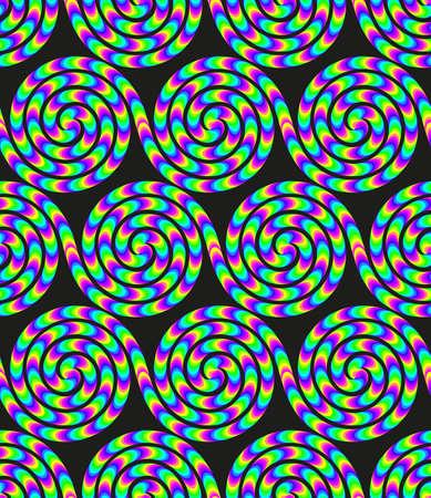 Acid colored groovy design