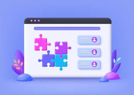 Project delivery concept. Project management. Business process and planning, workflow organization. 3d vector illustration. Иллюстрация