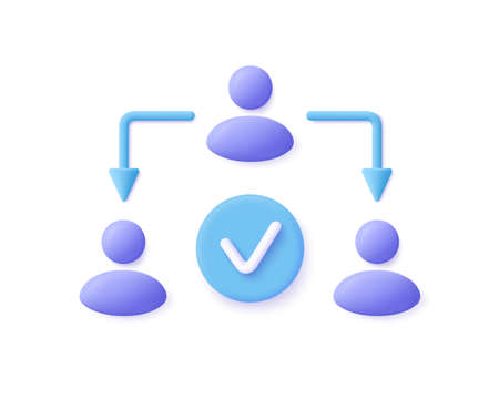Assignment, Delegating, Distribution Icon. 3d vector illustration.