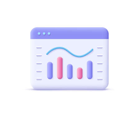Sales, increase money growth icon, progress marketing. 3d vector illustration. 일러스트