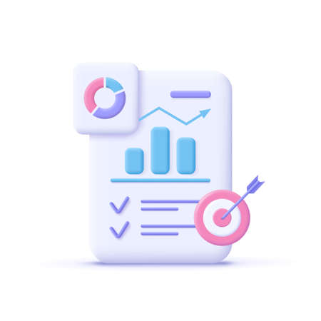 Project task management and effective time planning tools. Project development icon. 3d vector illustration. 일러스트
