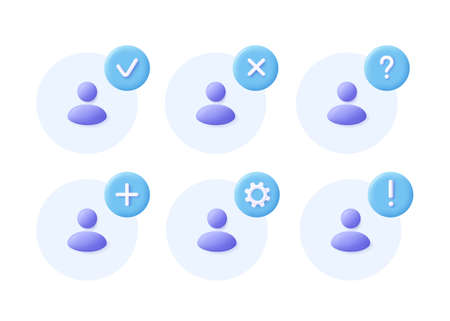 Network group icon set. Social community, business team, people communication icon. 3d vector illustration. 일러스트