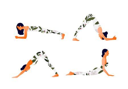 Yoga Downward and upward facing dog Woman health.