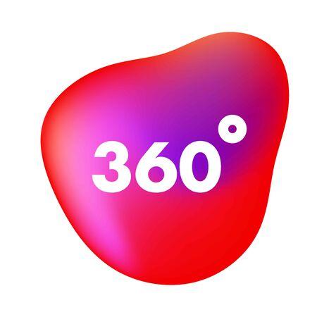 Coverage 360 degree flat vector icon. Illusztráció