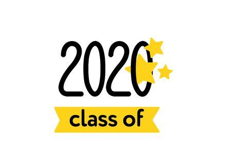 Class of 2020. Congratulation to Graduates. Graduation logo.