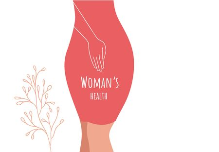 Beautiful female body and womens hygiene and health concept. Menopause, Urinary incontinence,