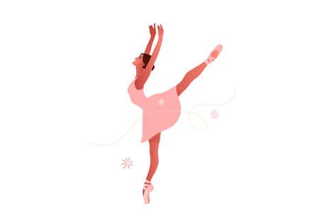 Beauty of classic ballet flat vector set 矢量图像