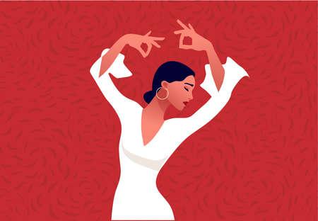 Beautiful graceful hands of young flamenco dancer