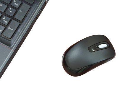 Wireless mouse isolated on white background photo