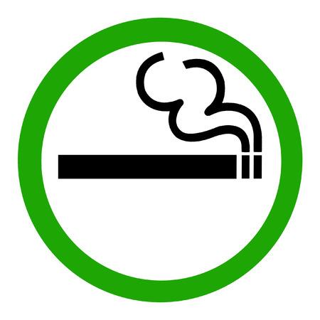 smoke alarm: Symbol of Smoking Zone Sign isolated on White