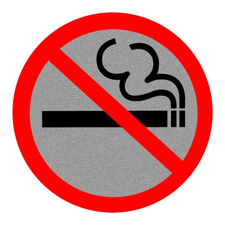 Symbol of No Smoking Zone Sign with Reflect background photo