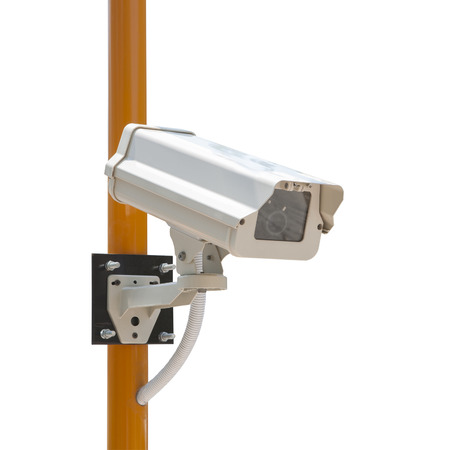 paranoia: CCTV Security Camera with installation  Isoloated on white background
