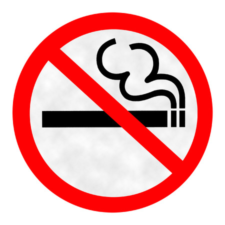 allow: Symbol of No Smoking Zone Sign with Smoke background Stock Photo