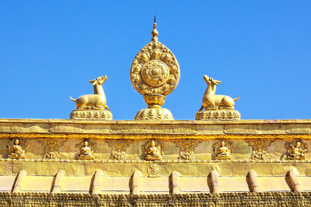 The Golden sculpture of Tibet architecture  Lhasa, TIbet  photo