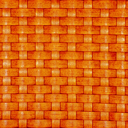 Texture of a orange wicker basket weave  Stock Photo
