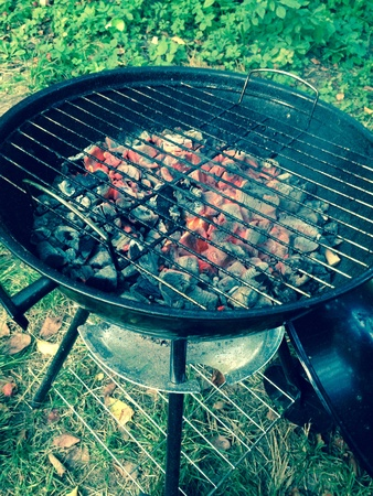 grill: A grill full of braises Stock Photo