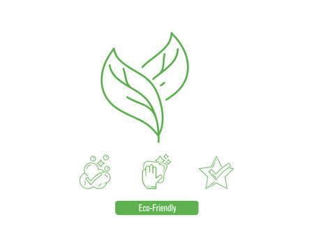 Go green trend vector illustration