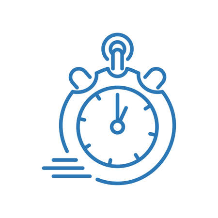 Modern abstract chronometer isolated icon Vector Illustratie